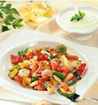 Gegrilltes Gemüse mit Knoblauch