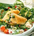 Tortillas mit Spinat-Füllung